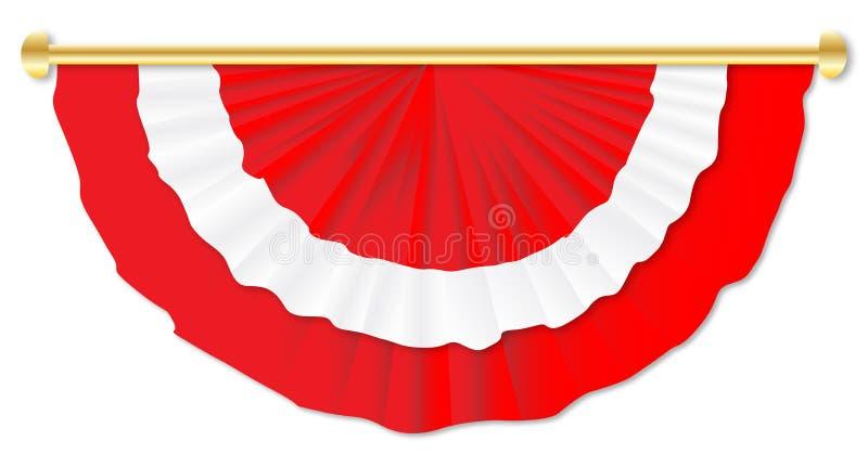 Röd och vit Bunting royaltyfri illustrationer