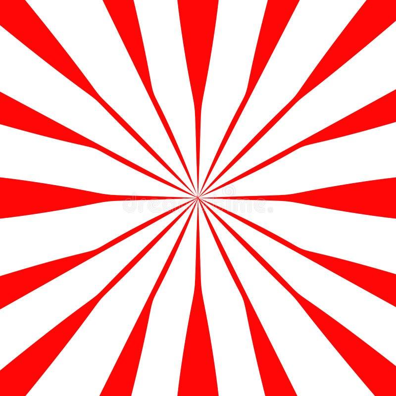 Röd och vit för bakgrundsmodellvektor illustration för abstrakt design skinande sun för bakgrund vektor illustrationer