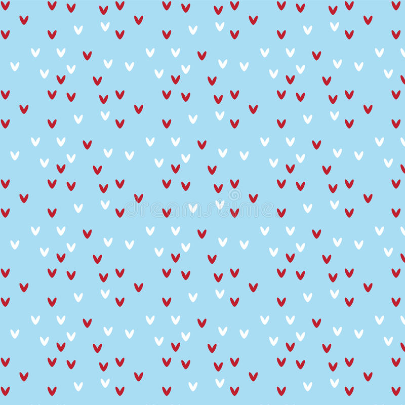 Röd och vit hjärtaformmodell på mjuk blå bakgrund vektor illustrationer