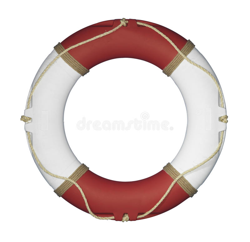 Röd och vit livcirkel fotografering för bildbyråer