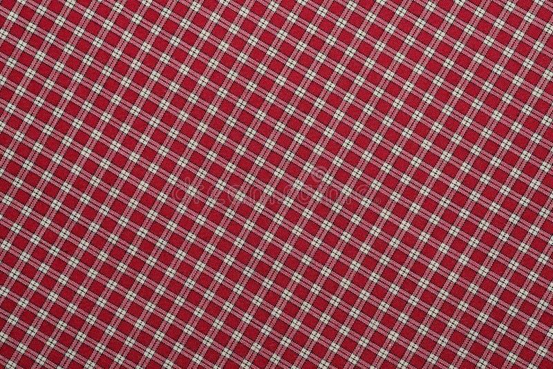 Röd och vit pläd royaltyfri bild
