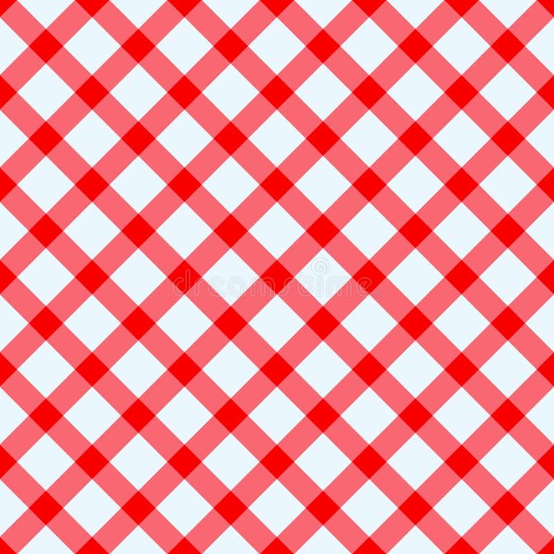 Röd och vit tablecloth vektor illustrationer