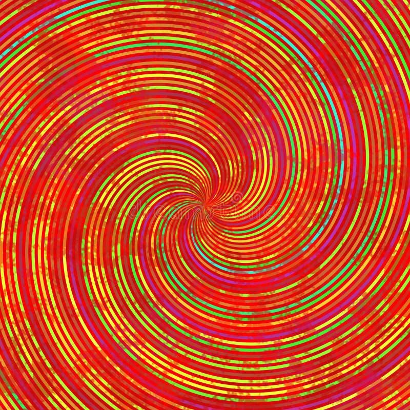 Röd orange för virvelspiral för gul gräsplan textur för modell royaltyfri illustrationer
