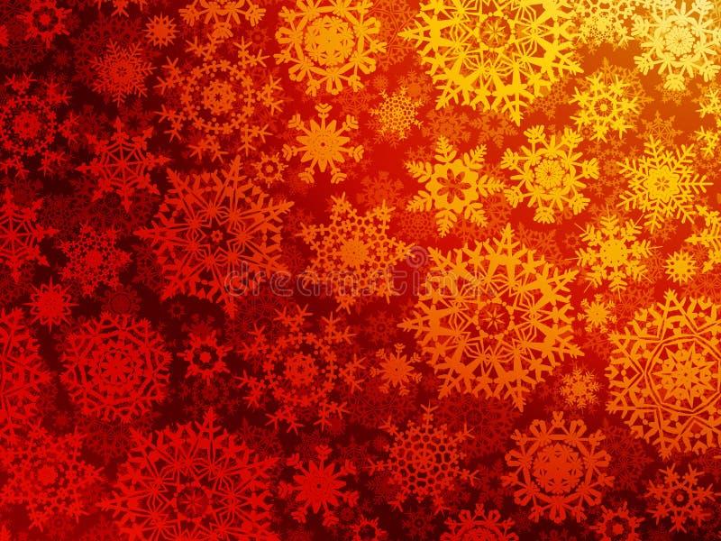 Röd orange jultexturmodell. EPS 8 vektor illustrationer
