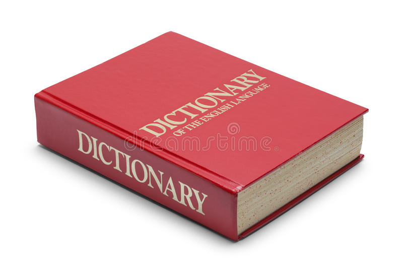 Röd ordbok royaltyfri bild