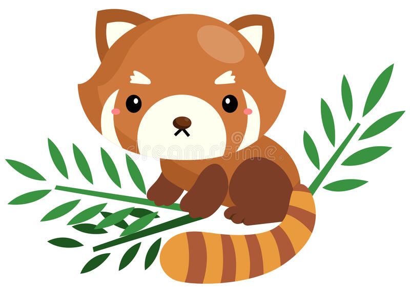Röd panda stock illustrationer