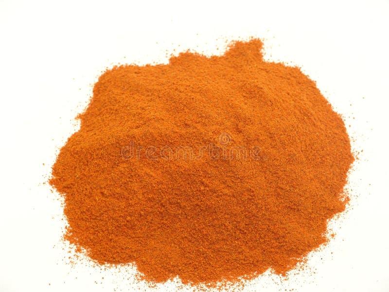 Röd peppar, chili, pulver royaltyfria foton