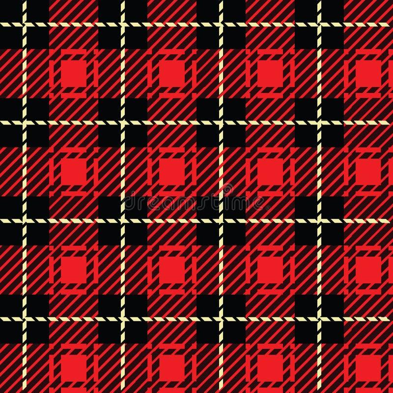Röd pläd royaltyfri illustrationer
