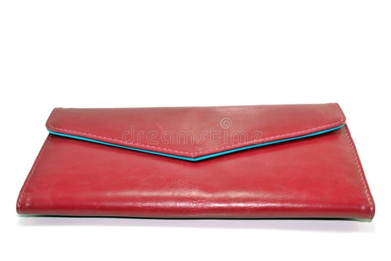 röd plånbok royaltyfri bild