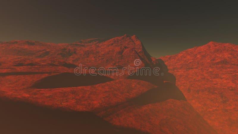 Röd planet 1 fotografering för bildbyråer