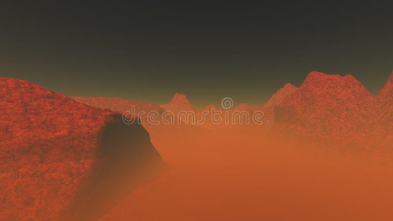 Röd planet 2 royaltyfri foto