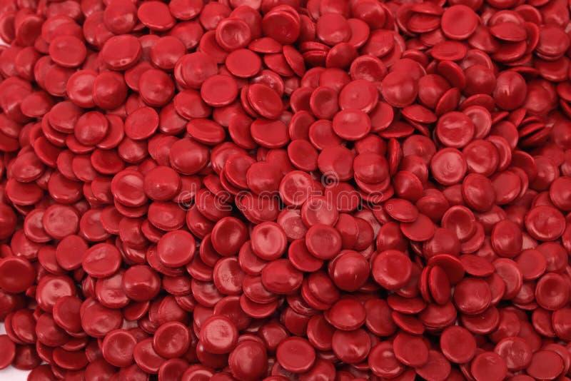 Röd polymer royaltyfria bilder