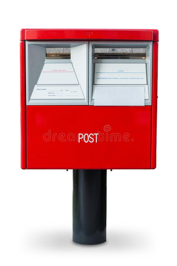 Röd postbox i Japan arkivfoto