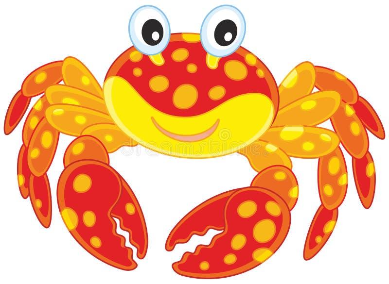 Röd prickig krabba stock illustrationer