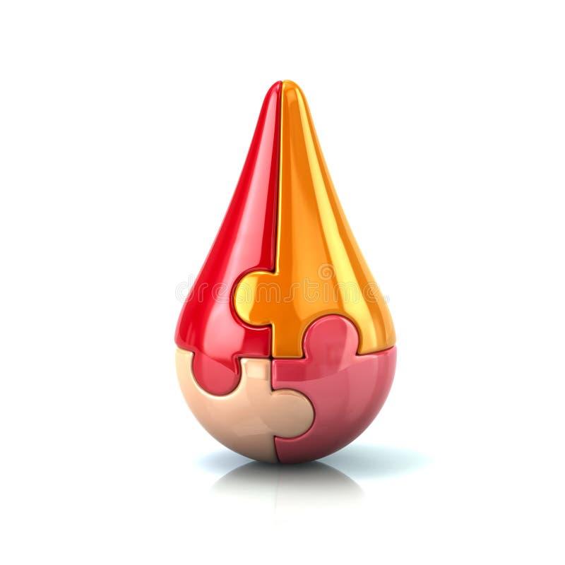 Röd pusseldroppe vektor illustrationer