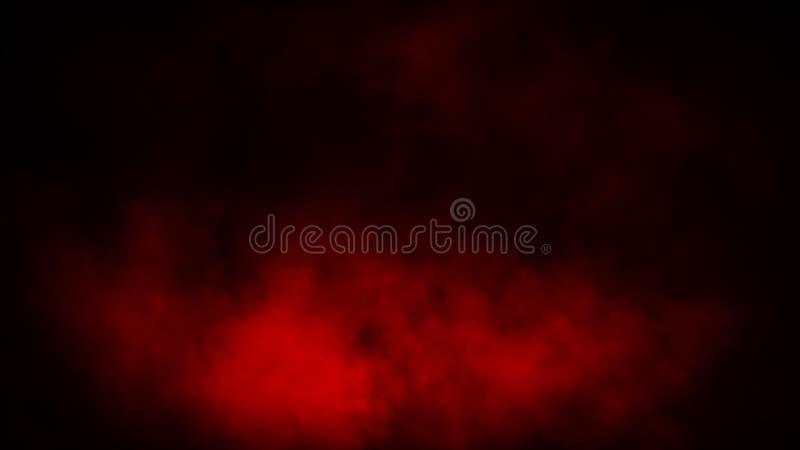 Röd rök på isolerad bakgrund Samkopieringar för gåtadimma- och strömtextur vektor f?r bild f?r designelementillustration royaltyfri fotografi