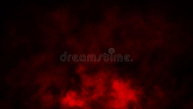 Röd rök på isolerad bakgrund Samkopieringar för gåtadimma- och strömtextur vektor f?r bild f?r designelementillustration arkivbilder