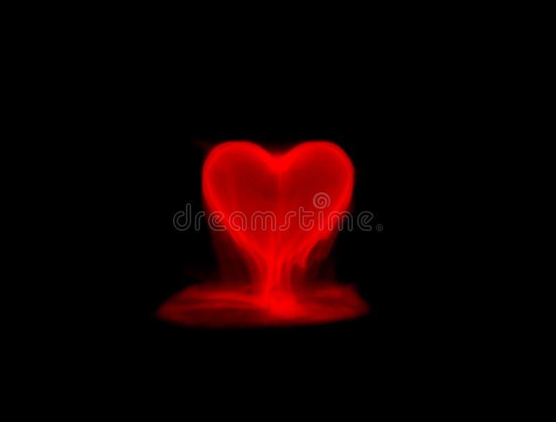 Röd rökhjärta vektor illustrationer