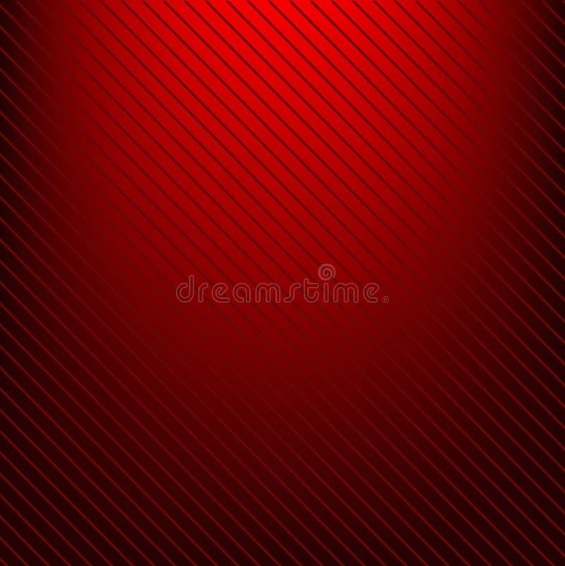 Röd radiell lutning som ska svärtas med linjer eps 10 royaltyfri illustrationer