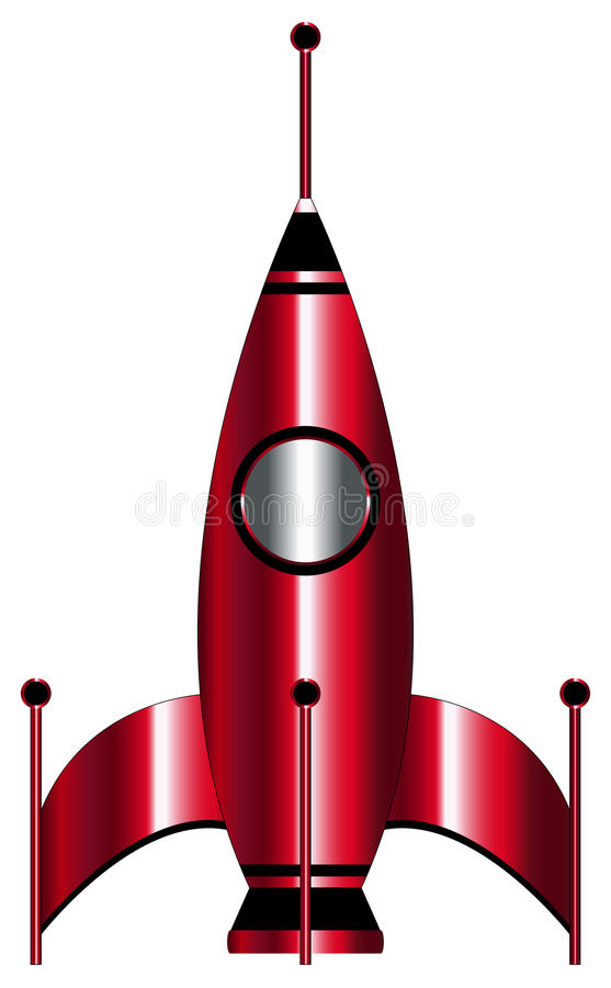 Röd raket fotografering för bildbyråer