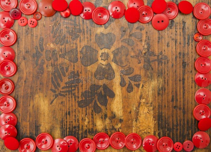 Röd ram för text royaltyfria foton