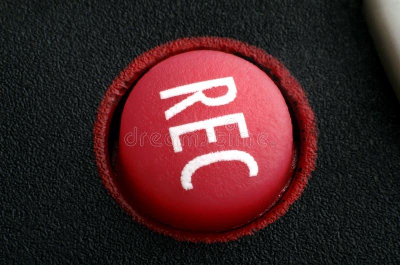 Röd rekord- knapp royaltyfria bilder