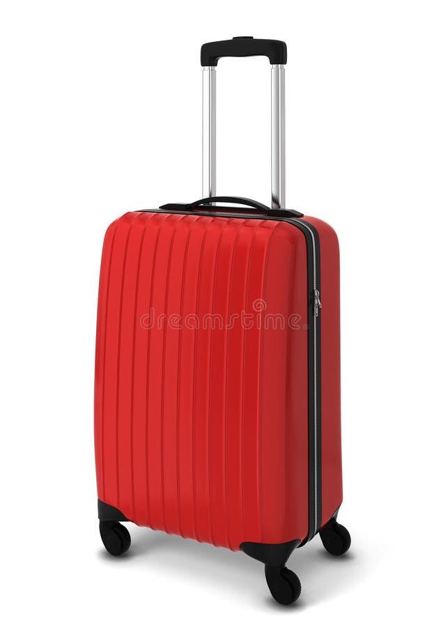 röd resväska royaltyfri illustrationer