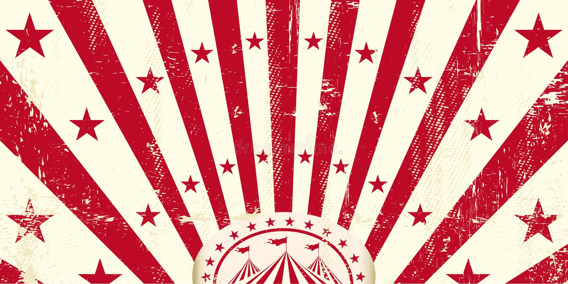 Röd retro cirkusinbjudan vektor illustrationer