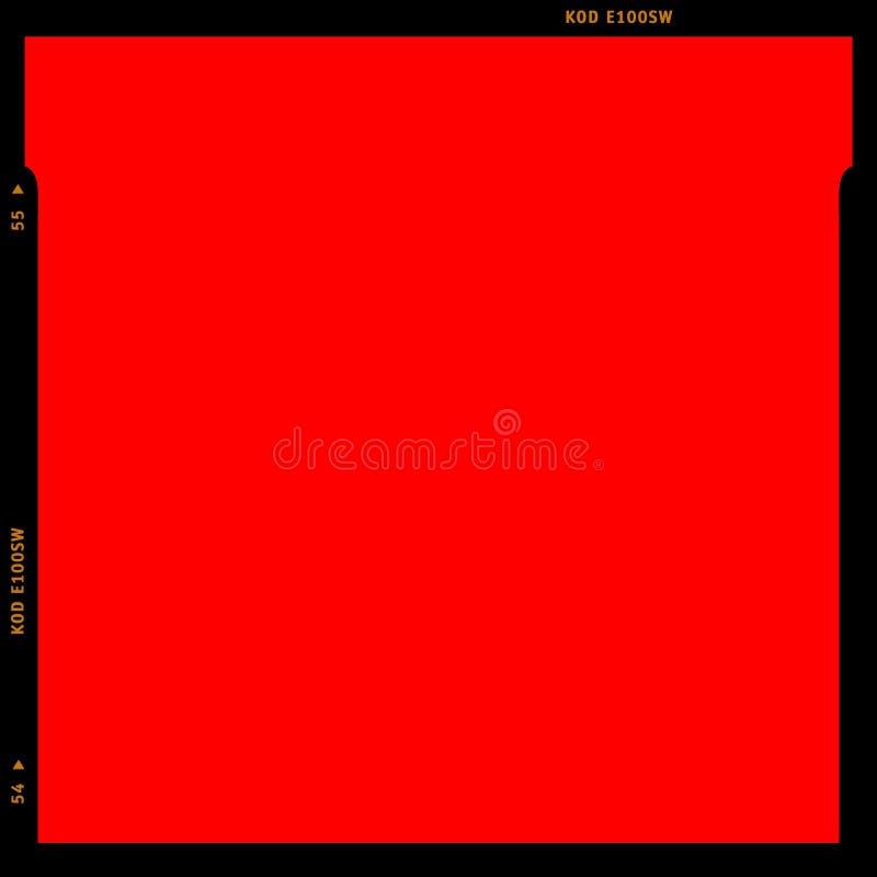 röd rgb-remsa för film vektor illustrationer