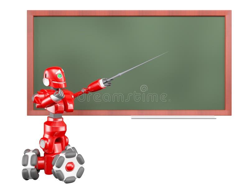 röd robot stock illustrationer