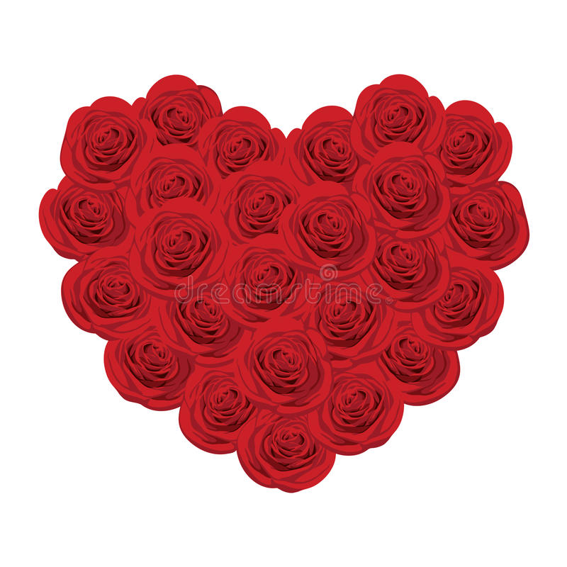 röd roform för hjärta royaltyfri illustrationer