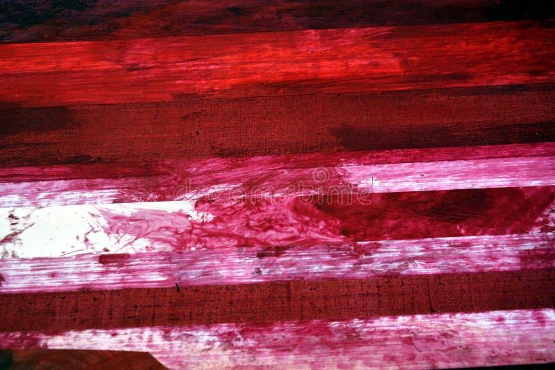 Röd, rosa och vit bakgrund för olje- målning arkivbilder