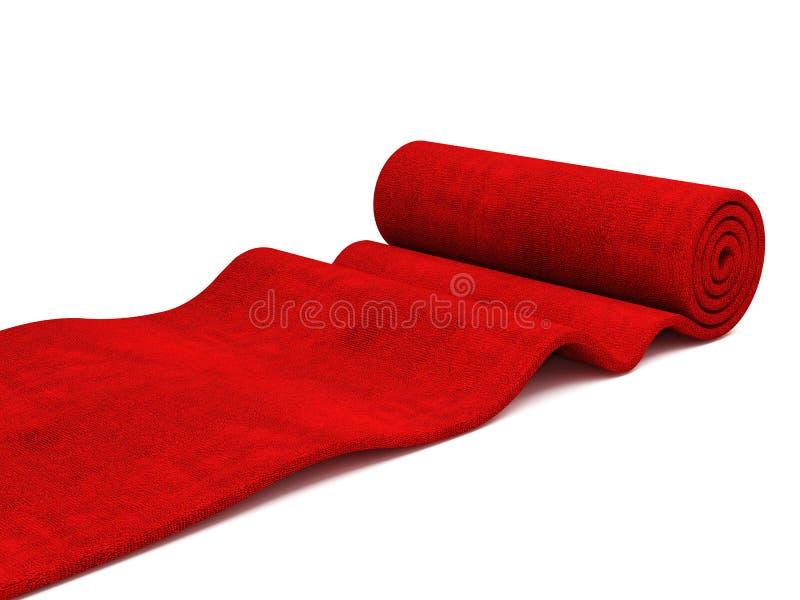 röd rullning för matta royaltyfri bild