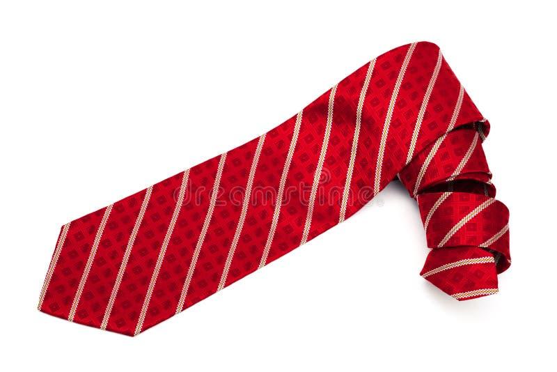 Röd rutig tie