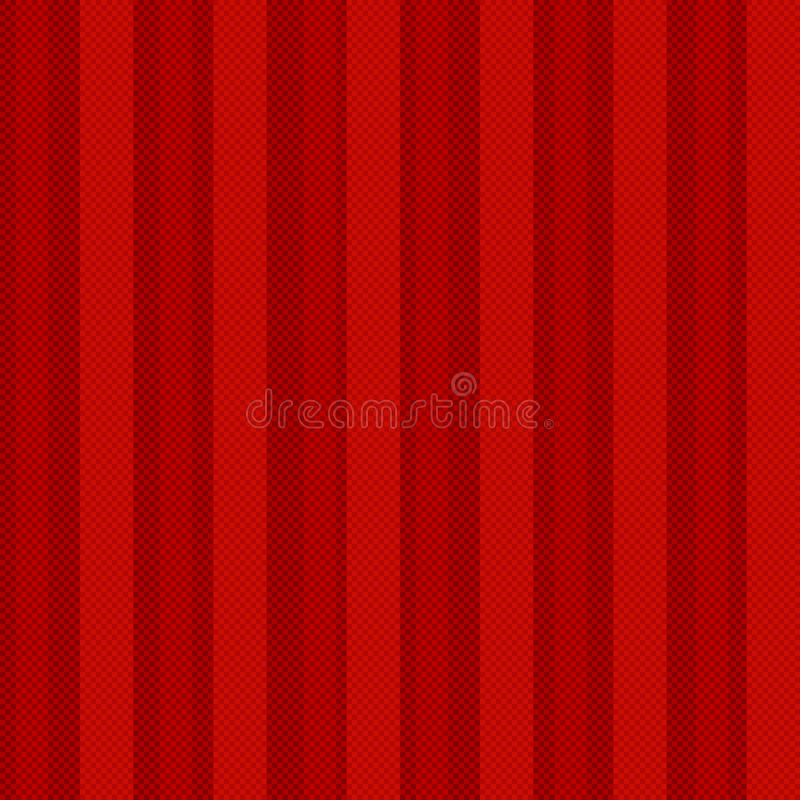 Röd sömlös geometrisk modell med linjen PIXEL. Ca stock illustrationer