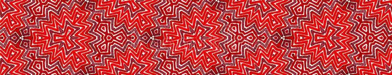 Röd sömlös gränssnirkel för vin Geometriska Waterco royaltyfri illustrationer