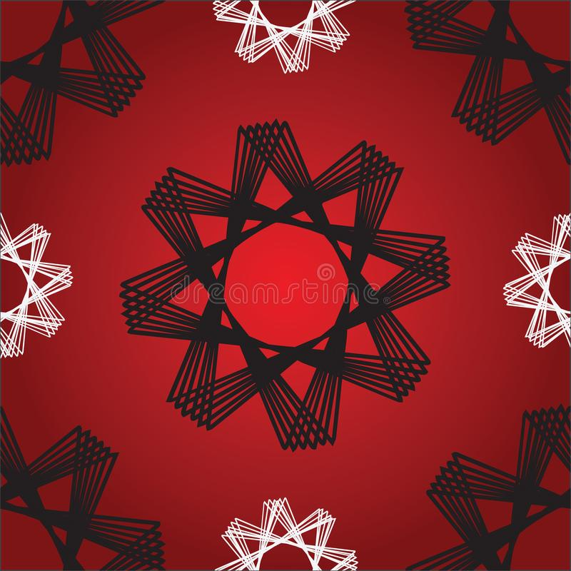 Röd sömlös modell för oktogonstjärnor stock illustrationer