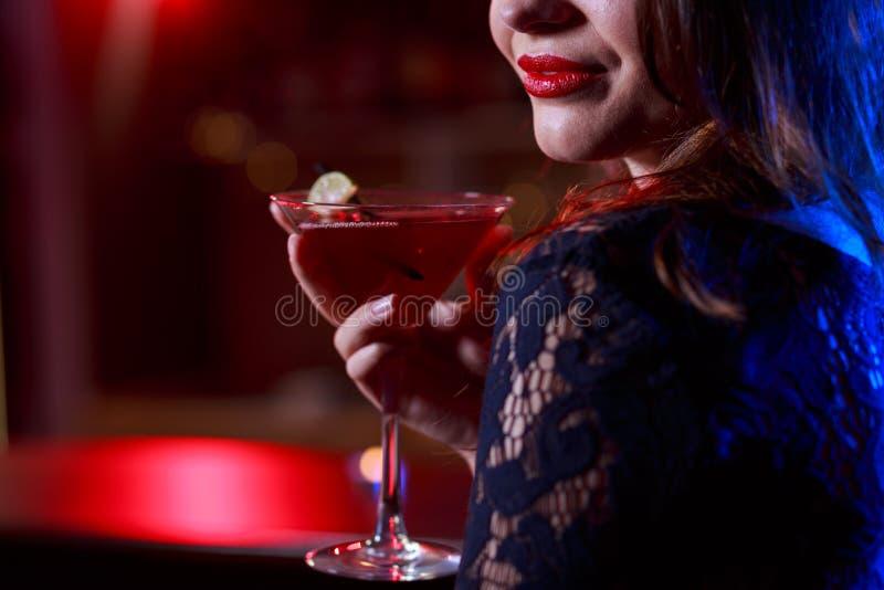 Röd söt drink arkivbild
