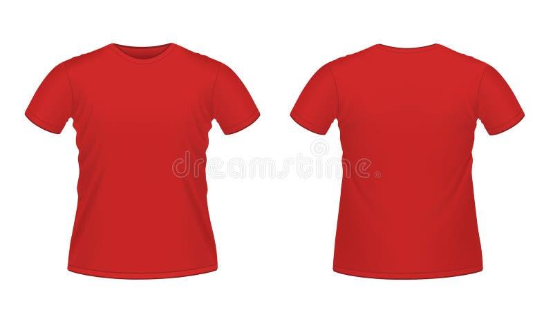 röd s skjorta t för män vektor illustrationer