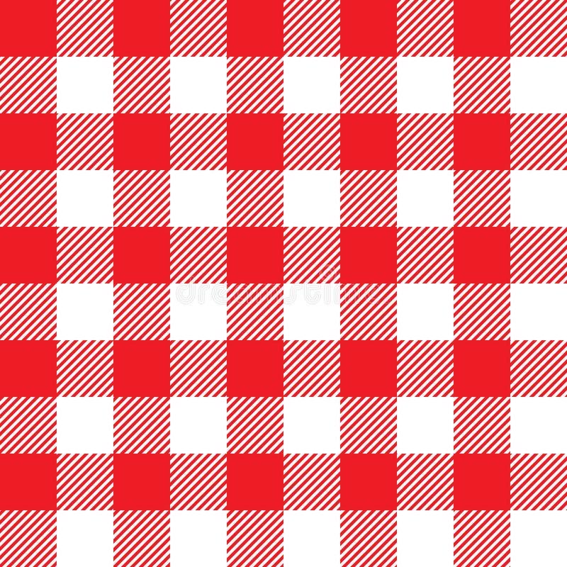 röd seamless tablecloth för modell royaltyfri illustrationer