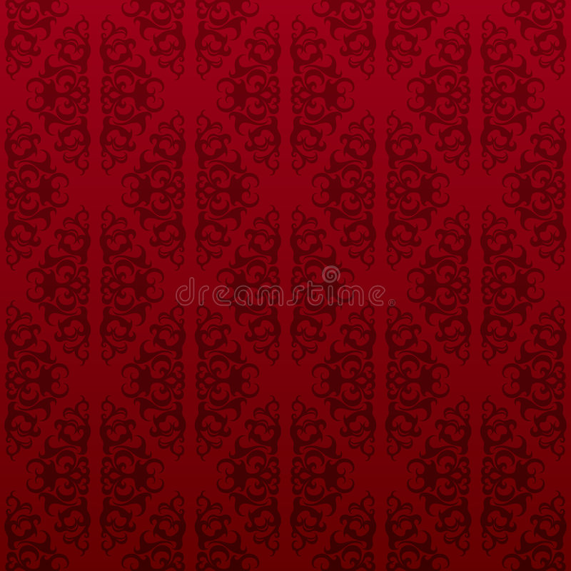 röd seamless vinewallpaper vektor illustrationer