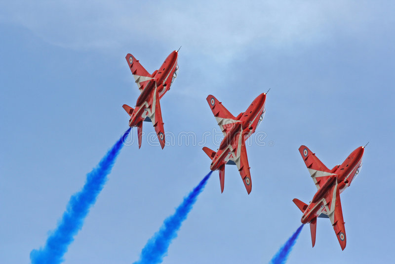 röd show för luftpilar fotografering för bildbyråer