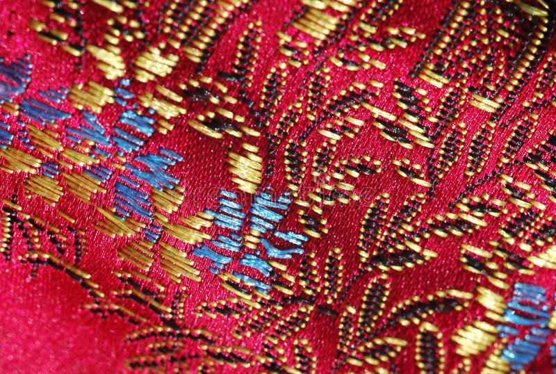 röd silk arkivbilder