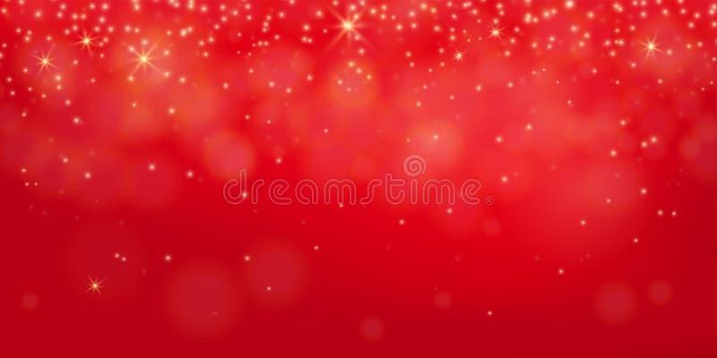 Röd skenbakgrund Abstrakt elegant glänsande bokehbegrepp vektor illustrationer