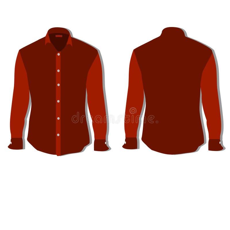 röd skjorta stock illustrationer