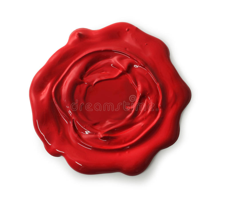 röd skyddsremsawax royaltyfri fotografi