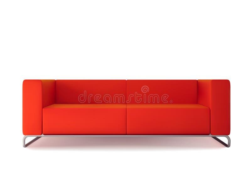 röd sofa royaltyfri illustrationer