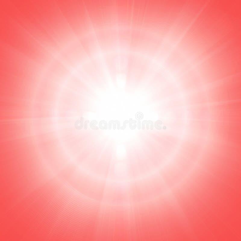 Röd solig bakgrund arkivbilder