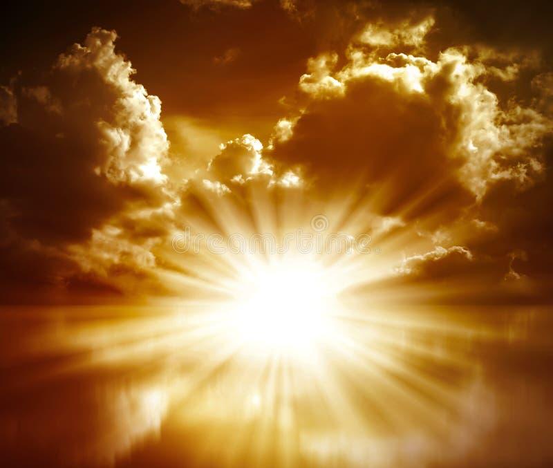 röd solnedgång royaltyfri fotografi