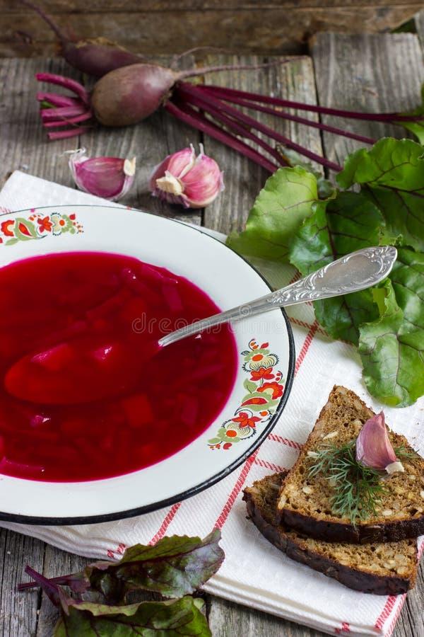 Röd soupborsch arkivbilder
